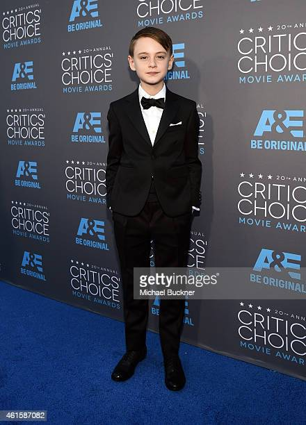 Actor Jaeden Lieberher attends the 20th annual Critics' Choice Movie Awards at the Hollywood Palladium on January 15 2015 in Los Angeles California
