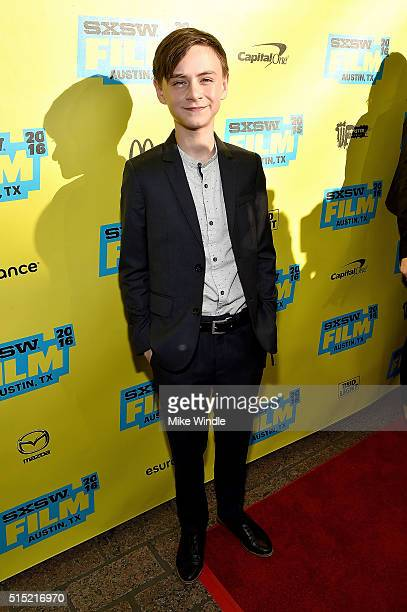 Actor Jaeden Lieberher attends the screening of 'Midnight Special' during the 2016 SXSW Music Film Interactive Festival at Paramount Theatre on March...