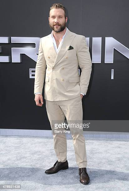 Actor Jai Courtney arrives at the Los Angeles premiere of 'Terminator Genisys' at the Dolby Theatre on June 28 2015 in Hollywood California