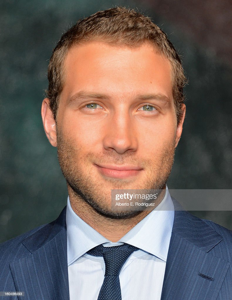 Actor Jai Courtney attends the dedication and unveiling of a new soundstage mural celebrating 25 years of 'Die Hard' at Fox Studio Lot on January 31, 2013 in Century City, California.