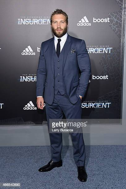 Actor Jai Courtney attends 'The Divergent Series Insurgent' New York premiere at Ziegfeld Theater on March 16 2015 in New York City