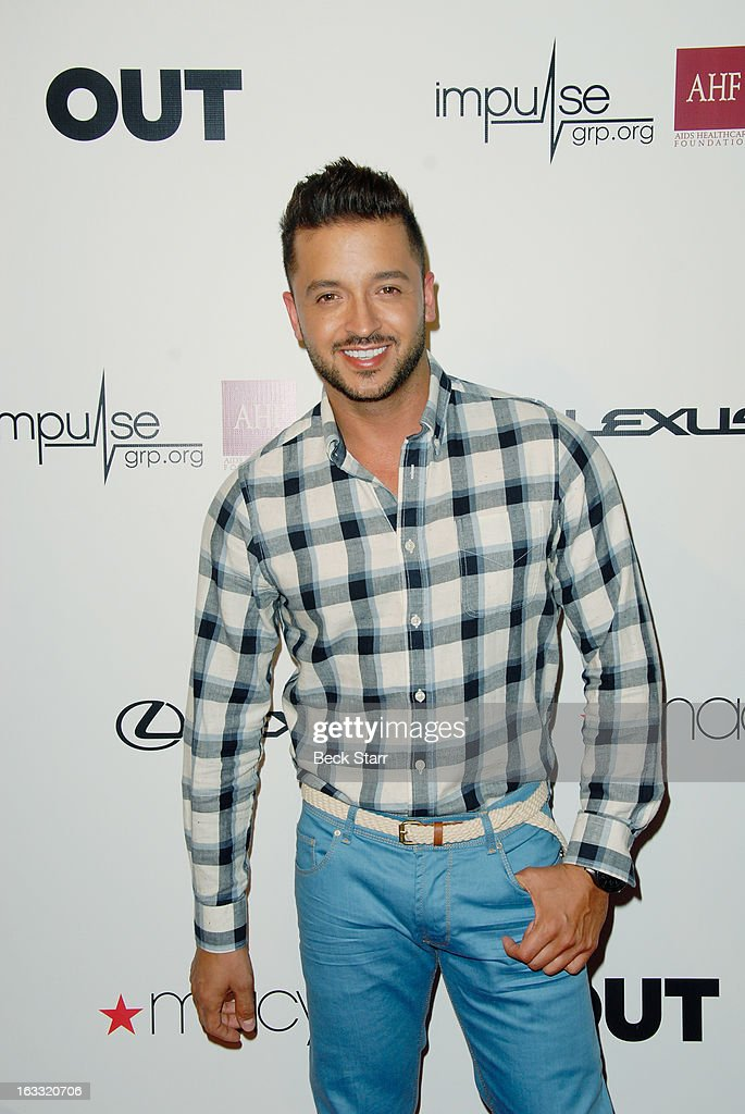 Actor Jai Rodriguez arrives at OUT Magazine's celebration of LA fashion week with launch of Out Fashion presented by Lexus at Pacific Design Center on March 7, 2013 in West Hollywood, California.