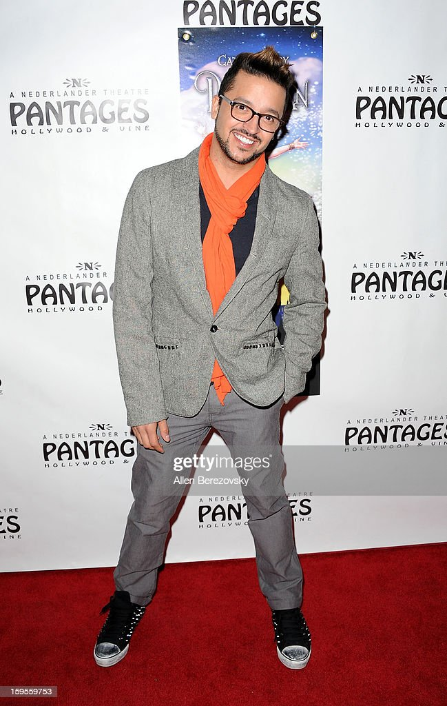 Actor Jai Rodriguez arrives at the Los Angeles opening night performance of 'Peter Pan' at the Pantages Theatre on January 15, 2013 in Hollywood, California.