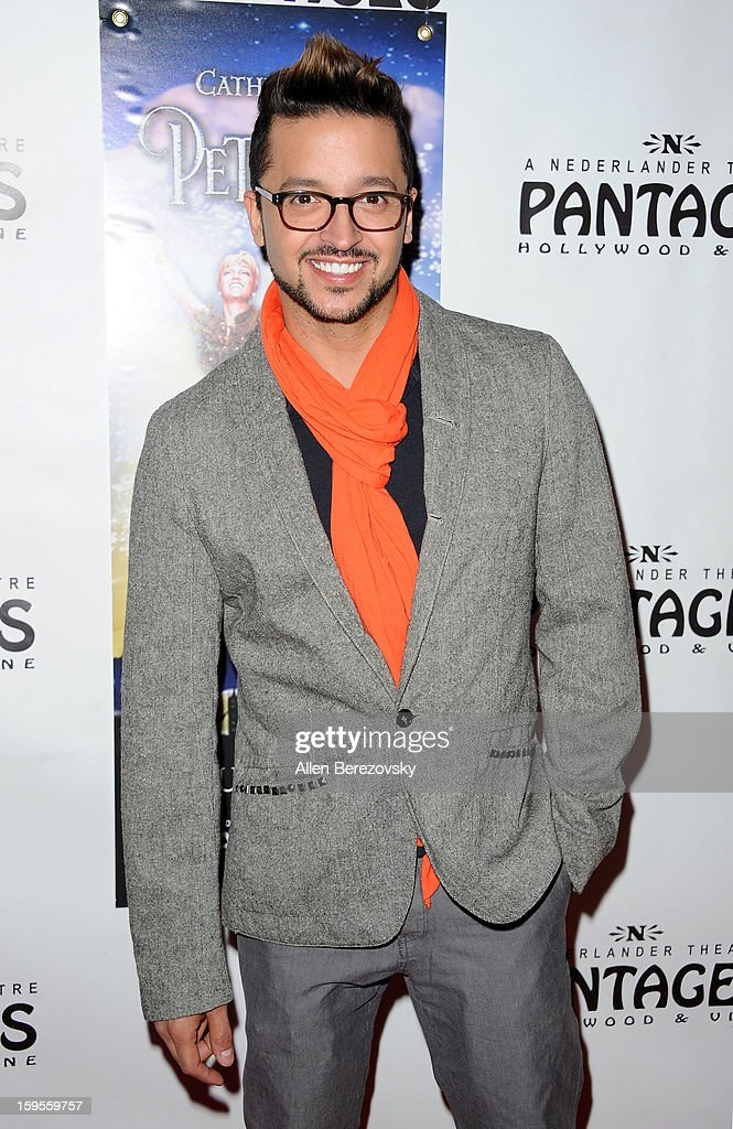 Actor <a gi-track='captionPersonalityLinkClicked' href=/galleries/search?phrase=Jai+Rodriguez+-+Attore&family=editorial&specificpeople=202956 ng-click='$event.stopPropagation()'>Jai Rodriguez</a> arrives at the Los Angeles opening night performance of 'Peter Pan' at the Pantages Theatre on January 15, 2013 in Hollywood, California.