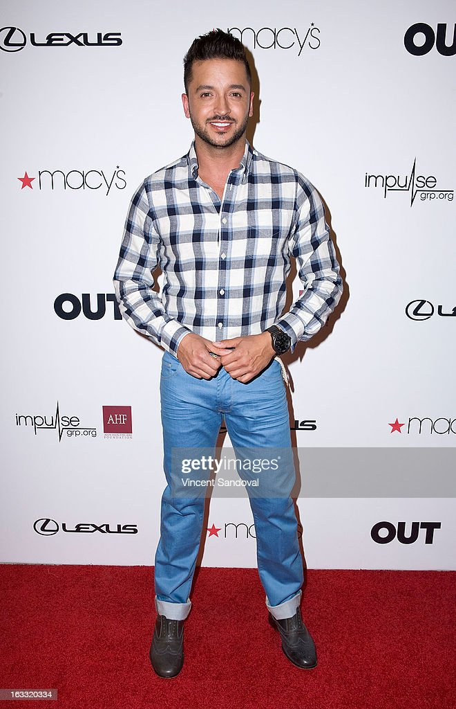 Actor Jai Rodriguez attends OUT magazine's celebration of LA fashion week with OUT fashion benefiting the AIDS Healthcare Foundation at Pacific Design Center on March 7, 2013 in West Hollywood, California.