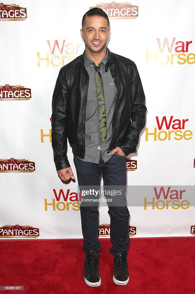 Actor <a gi-track='captionPersonalityLinkClicked' href=/galleries/search?phrase=Jai+Rodriguez+-+Actor&family=editorial&specificpeople=202956 ng-click='$event.stopPropagation()'>Jai Rodriguez</a> attends the 'War Horse' Los Angeles opening night held at the Pantages Theatre on October 8, 2013 in Hollywood, California.