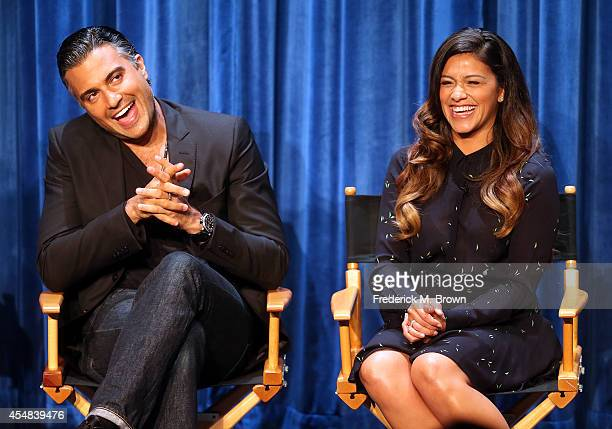 Actor Jaime Camil and actress Gina Rodriguez speak during The Paley Center for Media's PaleyFest 2014 Fall TV Previews The CW at The Paley Center for...