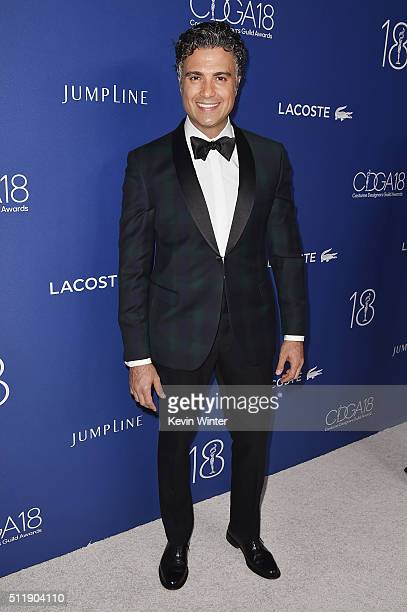 Actor Jaime Camil attends the 18th Costume Designers Guild Awards with Presenting Sponsor LACOSTE at The Beverly Hilton Hotel on February 23 2016 in...