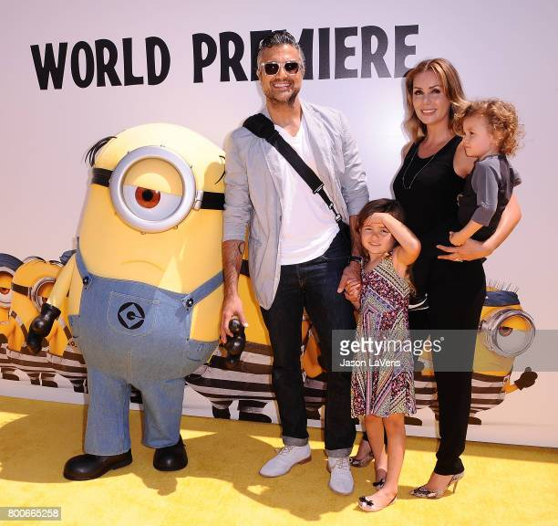 Actor Jaime Camil Heidi Balvanera Jaime Camil III and Elena Camil attend the premiere of 'Despicable Me 3' at The Shrine Auditorium on June 24 2017...