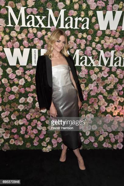 Actor Jaime King wearing Max Mara at Max Mara Celebrates Zoey Deutch The 2017 Women In Film Max Mara Face of the Future at Chateau Marmont on June 12...