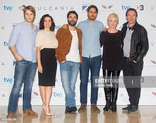 actor Jaime Olias actress Silvia Abril actor Miquel Fernandez director Jose Skaf actress Ana Wagener and actor Gines Garcia Millan attend 'Vulcania'...