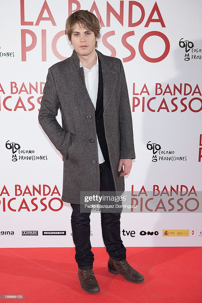 Actor Jaime Olias attends 'La Banda Picasso' Premiere at Capitol Cinema on January 24, 2013 in Madrid, Spain.