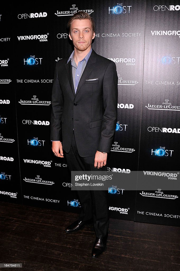 Actor Jake Abel attends The Cinema Society and Jaeger-LeCoultre Hosts A Screening Of 'The Host' at Tribeca Grand Hotel on March 27, 2013 in New York City.