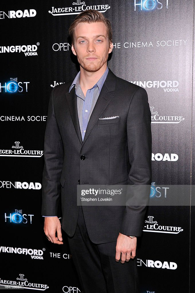 Actor Jake Abel attends The Cinema Society & Jaeger-LeCoultre Hosts A Screening Of 'The Host' at Tribeca Grand Hotel on March 27, 2013 in New York City.