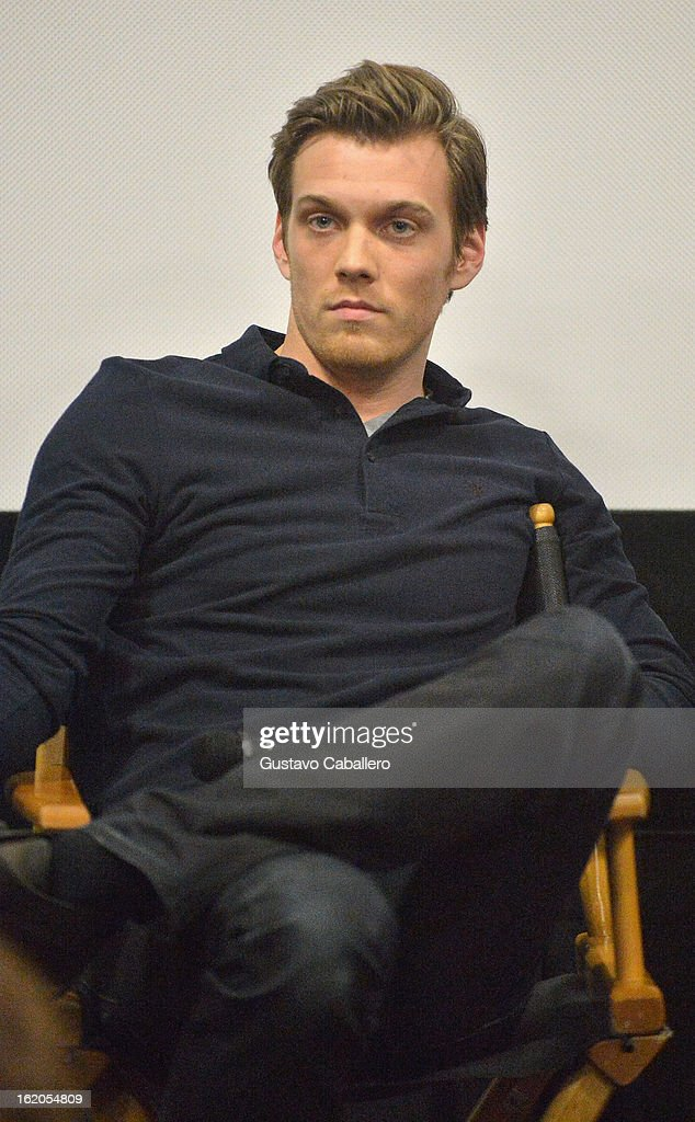 Actor Jake Abel attends 'The Host' Miami Q&A Screening with Stephenie Meyer and Max Irons at AMC Sunset Place on February 18, 2013 in Miami, Florida.