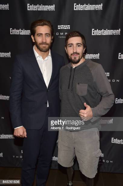 Actor Jake Gyllenhaal and Boston bombing surviror Jeff Bauman attend Entertainment Weekly's Must List Party during the Toronto International Film...