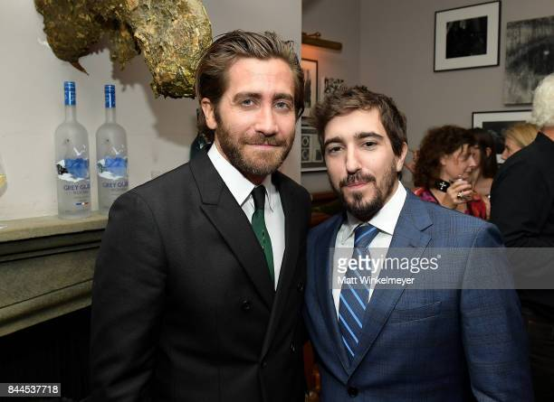 Actor Jake Gyllenhaal and Jeff Bauman attend 'Stronger' premiere party hosted by GREY GOOSE vodka and Soho House on September 8 2017 in Toronto Canada