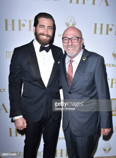 Actor Jake Gyllenhaal and Lorenzo Soria attend the Hollywood Foreign Press Association's 2017 Cannes Film Festival Event in honour of the...