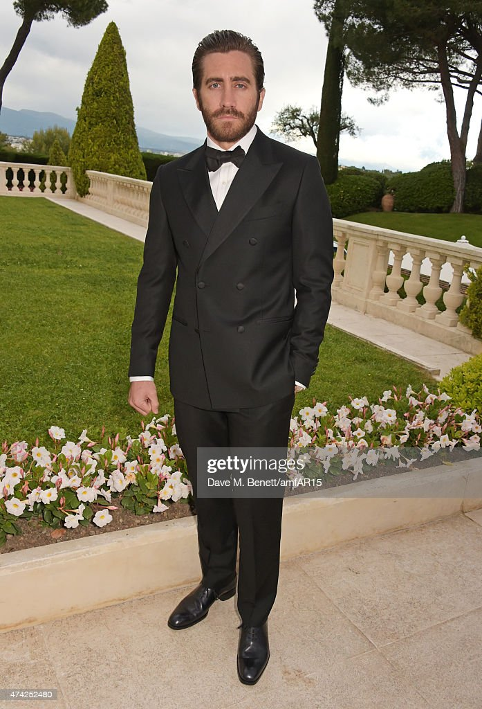 Actor Jake Gyllenhaal arrives at amfAR's 22nd Cinema Against AIDS Gala, Presented By Bold Films And Harry Winston at Hotel du Cap-Eden-Roc on May 21, 2015 in Cap d'Antibes, France.