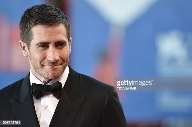 Actor Jake Gyllenhaal arrives for the premiere of the movie 'Nocturnal Animals' presented in competition at the 73rd Venice Film Festival on...