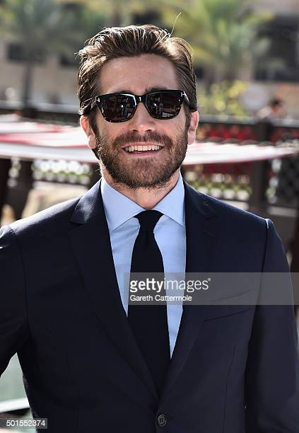 Actor Jake Gyllenhaal attends a photocall during day eight of the 12th annual Dubai International Film Festival held at the Madinat Jumeriah Complex...