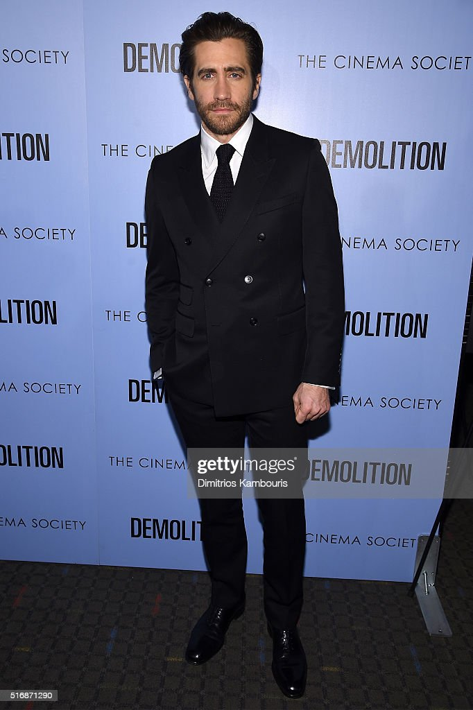 Actor Jake Gyllenhaal attends a screening of 'Demolition' hosted by Fox Searchlight Pictures with the Cinema Society at the SVA Theater on March 21, 2016 in New York City.