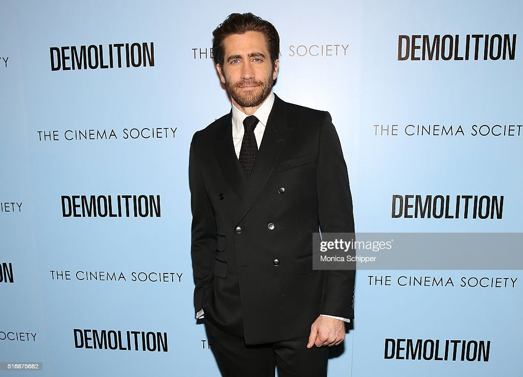 Actor Jake Gyllenhaal attends a screening of 'Demolition' hosted by Fox Searchlight Pictures with The Cinema Society at SVA Theatre on March 21, 2016 in New York City.