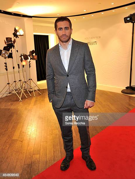 Actor Jake Gyllenhaal attends a Variety dinner celebrating Jake Gyllenhaal at Holt Renfrew during the 2014 Toronto International Film Festival on...