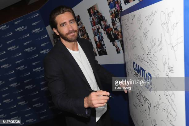Actor Jake Gyllenhaal attends Annual Charity Day hosted by Cantor Fitzgerald BGC and GFI at Cantor Fitzgerald on September 11 2017 in New York City