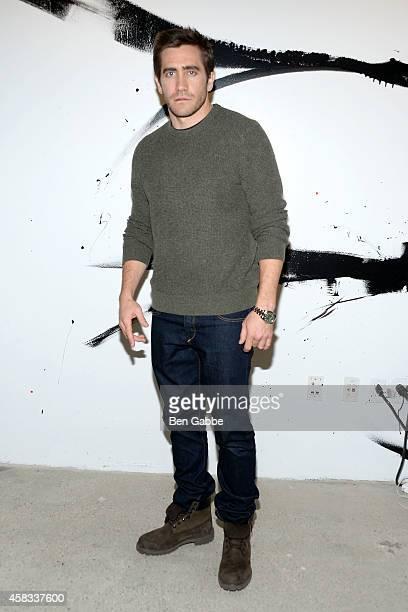 Actor Jake Gyllenhaal attends AOL's BUILD Speaker Series at AOL Studios In New York on November 3 2014 in New York City