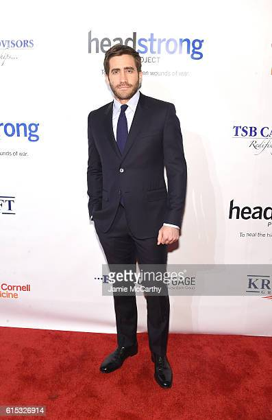 Actor Jake Gyllenhaal attends Headstrong Project Words Of War Gala at Pier 60 on October 17 2016 in New York City
