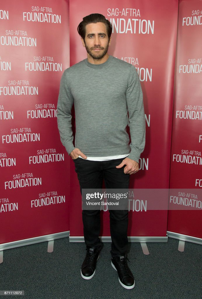 Actor Jake Gyllenhaal attends SAG-AFTRA Foundation Conversations screening of 'Stronger' at SAG-AFTRA Foundation Screening Room on November 6, 2017 in Los Angeles, California.