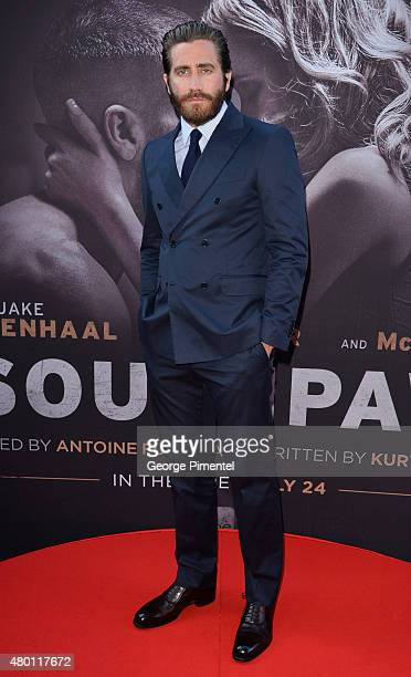 Actor Jake Gyllenhaal attends the Canadian Premiere of 'Southpaw' at Scotiabank Theatre on July 9 2015 in Toronto Canada