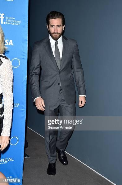 Actor Jake Gyllenhaal attends the 'Demolition' press conference at the 2015 Toronto International Film Festival at TIFF Bell Lightbox on September 11...