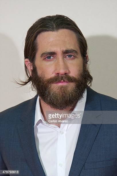 Actor Jake Gyllenhaal attends the 'Enemy' premiere at the Palafox cinema on March 20 2014 in Madrid Spain