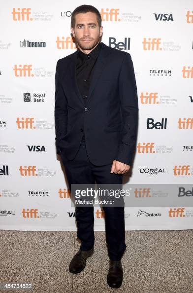 Actor Jake Gyllenhaal attends the 'Nightcrawler' premiere during the 2014 Toronto International Film Festival at The Elgin on September 5 2014 in...