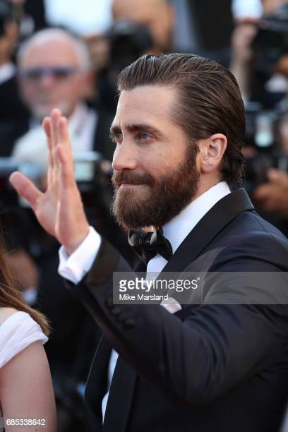 Actor Jake Gyllenhaal attends the 'Okja' screening during the 70th annual Cannes Film Festival at Palais des Festivals on May 19 2017 in Cannes France