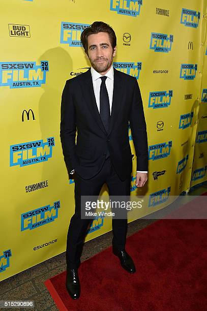 Actor Jake Gyllenhaal attends the screening of 'Demolition' during the 2016 SXSW Music Film Interactive Festival at Paramount Theatre on March 12...