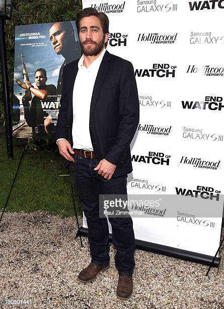 Actor Jake Gyllenhaal attends the The Hollywood Reporter and Samsung Galaxy SIII private Hamptons screening of Open Road Films' 'End of Watch' at...