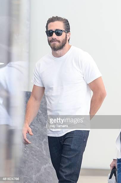 Actor Jake Gyllenhaal leaves the Sirius XM Studios on July 22 2015 in New York City