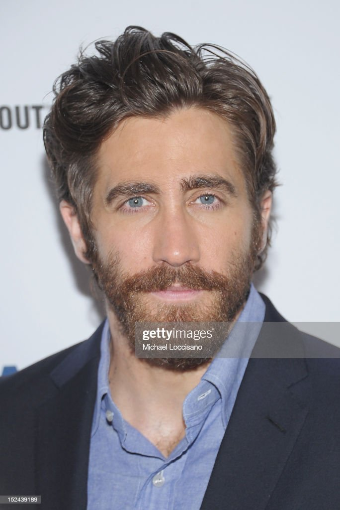 Actor <a gi-track='captionPersonalityLinkClicked' href=/galleries/search?phrase=Jake+Gyllenhaal&family=editorial&specificpeople=201833 ng-click='$event.stopPropagation()'>Jake Gyllenhaal</a> poses following his performance in the 'If There Is I Haven't Found It' Broadway opening night at Laura Pels Theatre on September 20, 2012 in New York City.