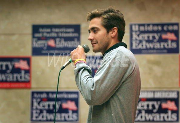 Actor Jake Gyllenhaal speaks at...