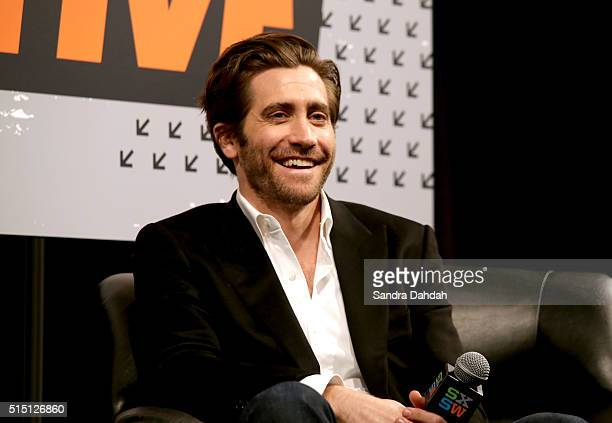 Actor Jake Gyllenhaal speaks onstage at 'A Conversation with Jake Gyllenhaal' during the 2016 SXSW Music Film Interactive Festival at Austin...