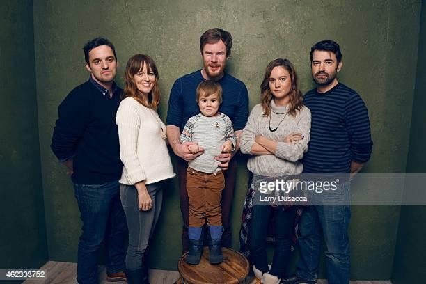 Actor Jake Johnson actress Rosemarie DeWitt writer/director Joe Swanberg Jude Swanberg actress Brie Larson and actor Ron Livingston of 'Digging for...