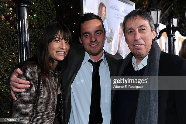 Actor Jake Johnson and Director/producer Ivan Reitman arrive at Paramount Pictures' 'No Strings Attached' premiere at Regency Village Theater on...