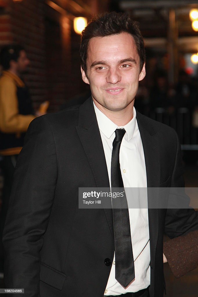 Actor Jake Johnson arrives at 'Late Show with David Letterman' at Ed Sullivan Theater on December 10, 2012 in New York City.
