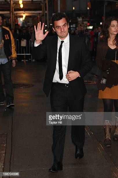 Actor Jake Johnson arrives at 'Late Show with David Letterman' at Ed Sullivan Theater on December 10 2012 in New York City