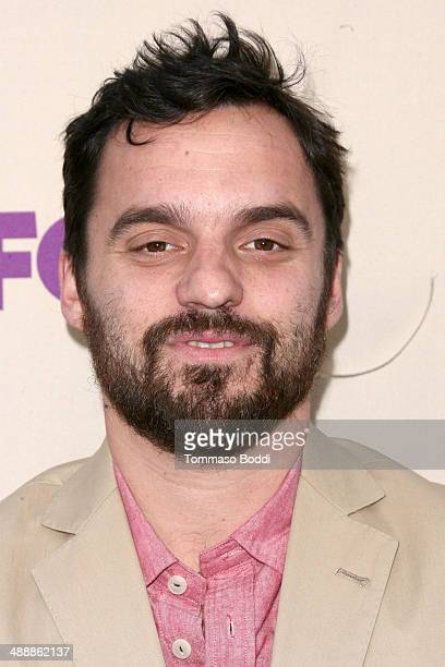 Actor Jake Johnson attends the 'New Girl' Season 3 Finale screening and cast QA held at the Zanuck Theater at 20th Century Fox Lot on May 8 2014 in...