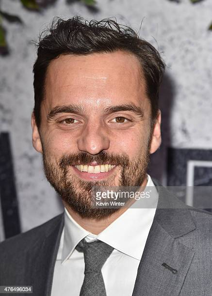 Actor Jake Johnson attends the Universal Pictures' 'Jurassic World' premiere at the Dolby Theatre on June 9 2015 in Hollywood California