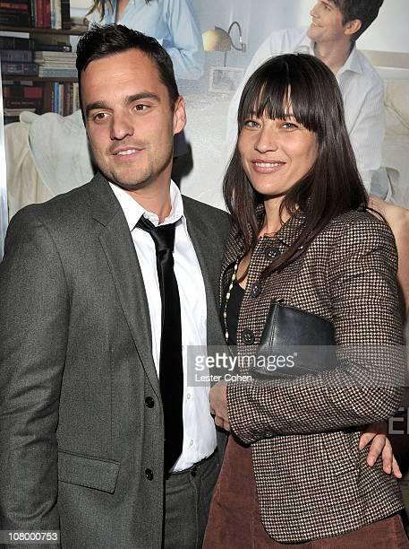 Actor Jake M Johnson and guest attend the 'No Strings Attached' Los Angeles Premiere at Regency Village Theatre on January 11 2011 in Westwood...